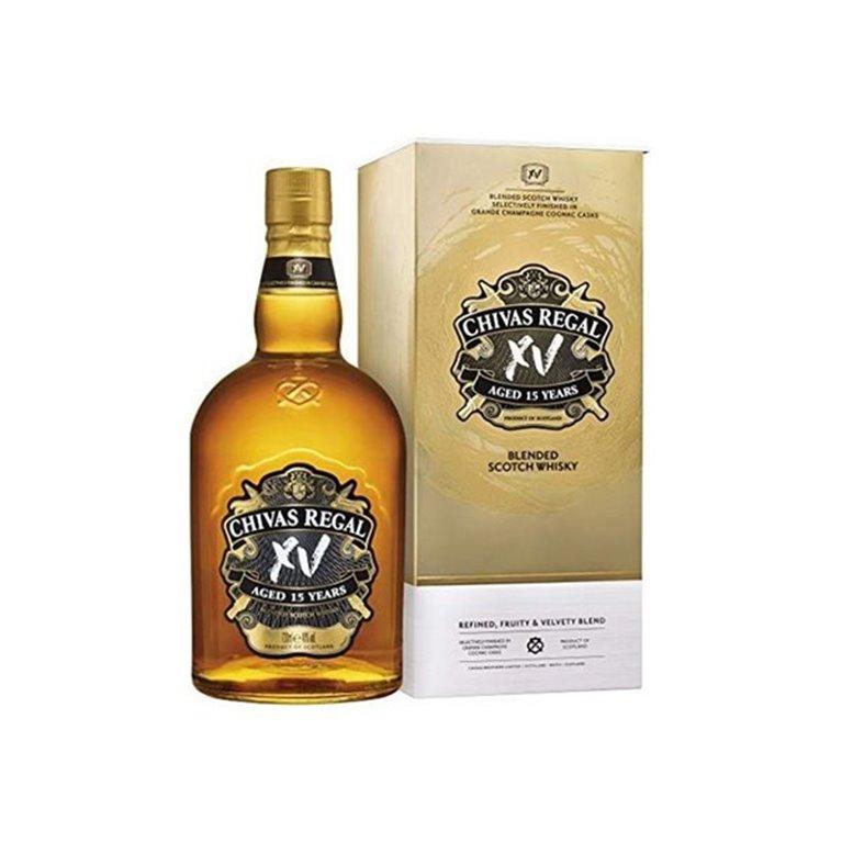 CHIVAS REGAL XV GOLD BOTTLE 0,70 L. + CASE