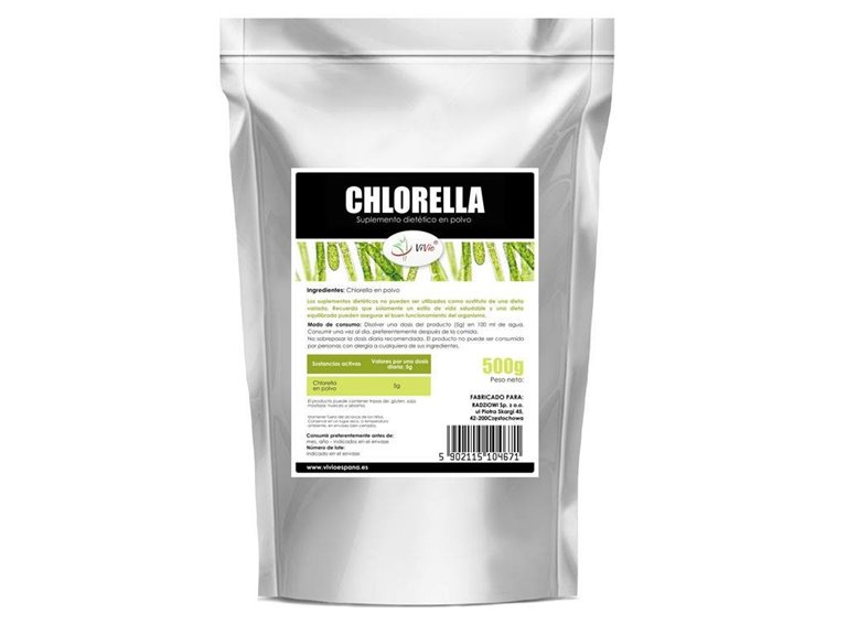 Chlorella en polvo 500g, 1 ud