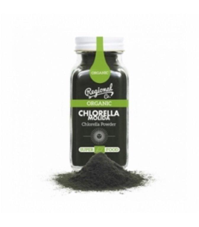Chlorella Orgánica molida 100gr. Regional Co. 6un.