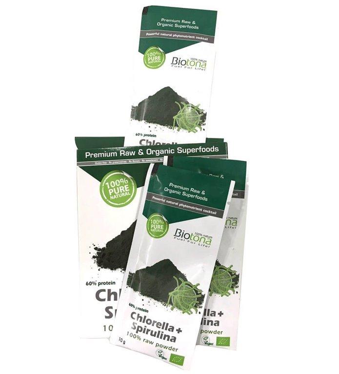 Chlorella+ Spirulina Monodosis, 200 gr