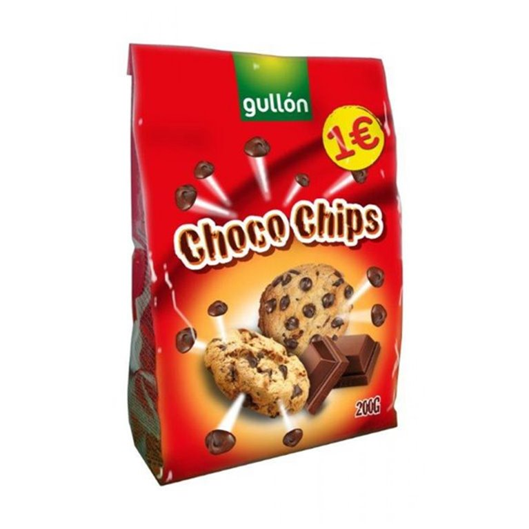 Gullón - Choco Chips (con chocolate negro), 1 ud