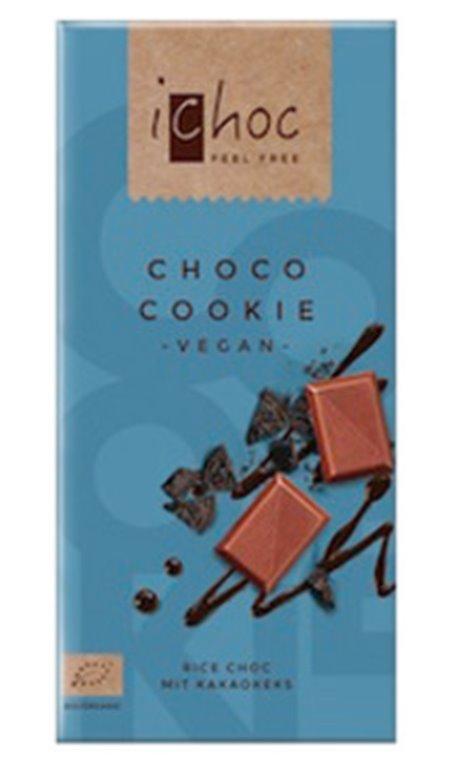 Chocolate 40% cacao con bebida de arroz, 80 gr