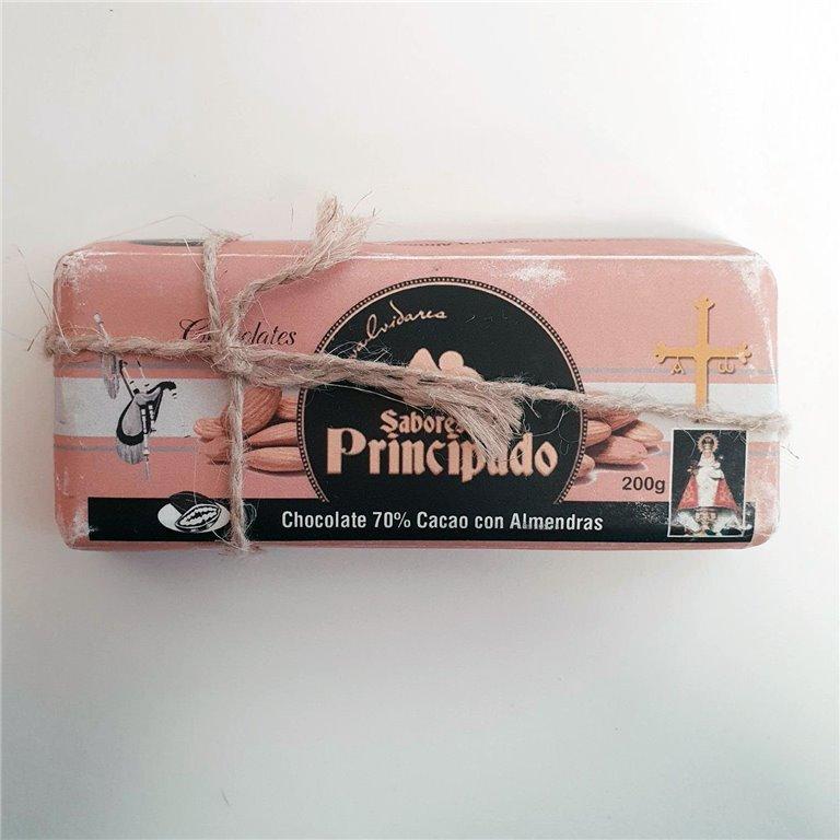 Chocolate 70%  Cacao  con Almendras 200 g.