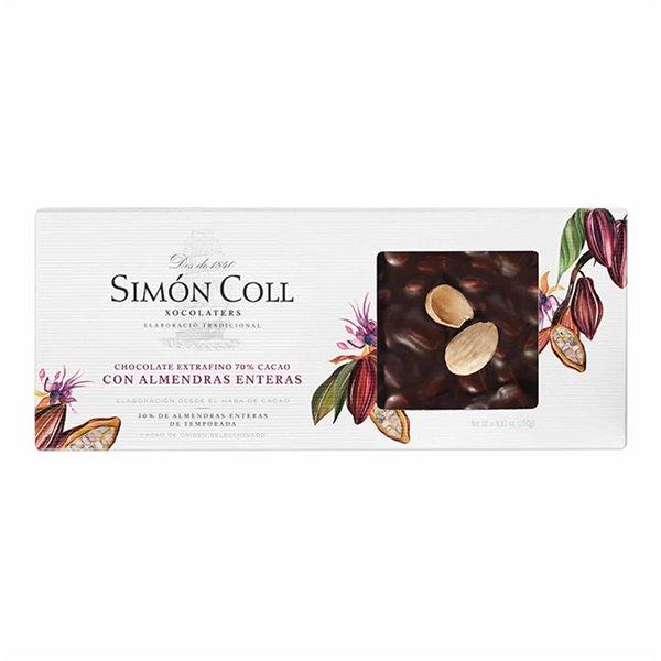 Chocolate 70% Cacao con Almendras enteras 250g Simon Coll