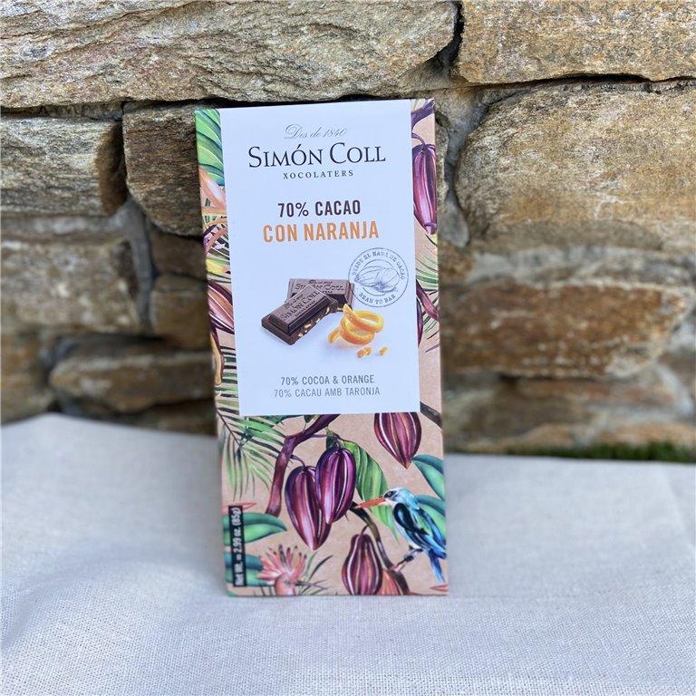 70% cocoa chocolate with orange