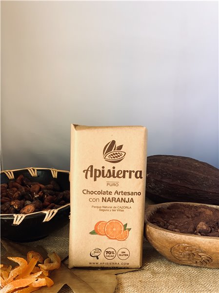 Chocolate 70% con Naranja 115 gr.