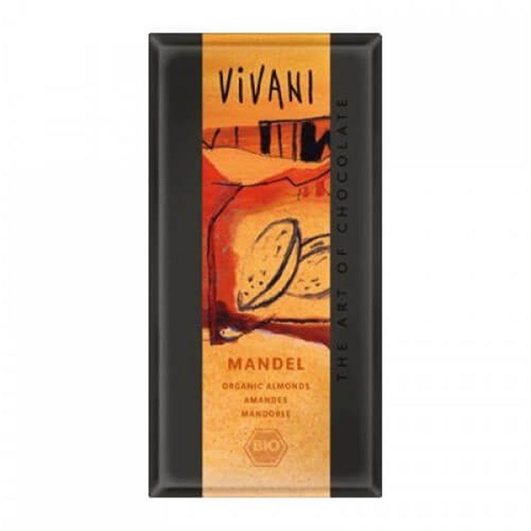 Chocolate almendras Vivani, 100 gr