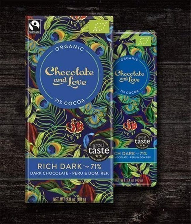Chocolate and love Rich Dark 71%