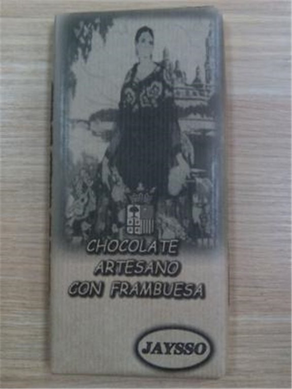 Chocolate artesano con frambuesa Jaysso, 1 ud