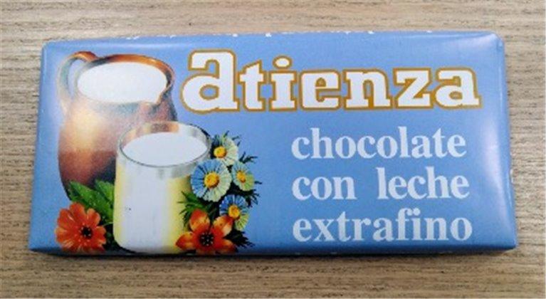 Chocolate con leche extrafino Atienza, 1 ud