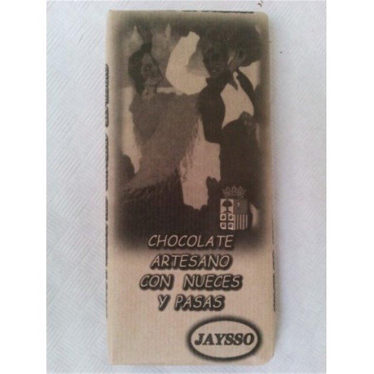 Chocolate artesano con nueces y pasas Jaysso, 1 ud