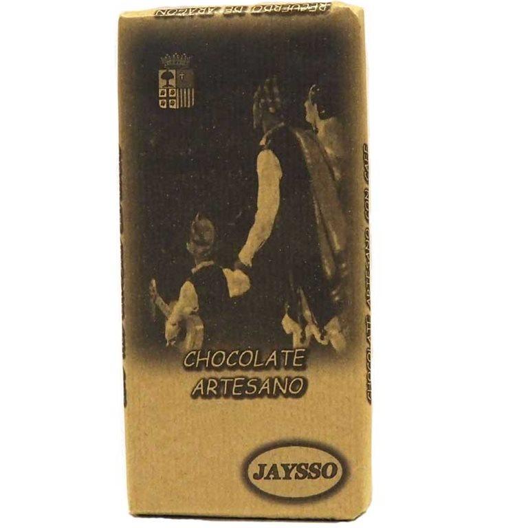 Chocolate artesano con pasas al ron Jaysso