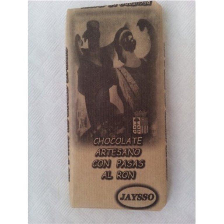 Chocolate artesano con pasas al ron Jaysso, 1 ud