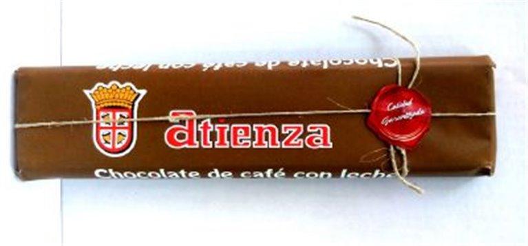 Chocolate de café con leche Atienza, 1 ud