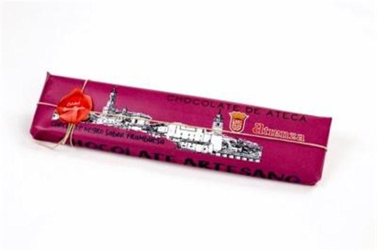 Chocolate artesano puro con frambuesa Atienza