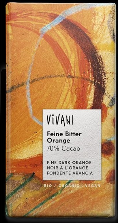 Chocolate Bitter Naranja Bio 100g, 1 ud