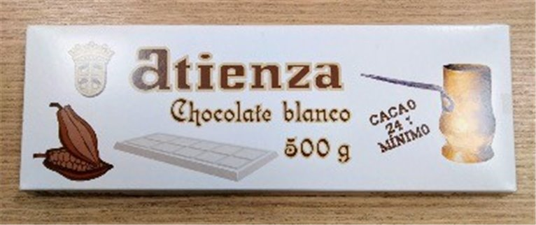 Chocolate blanco 500grs Atienza