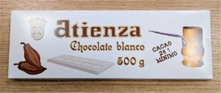 Chocolate blanco 500grs Atienza, 1 ud