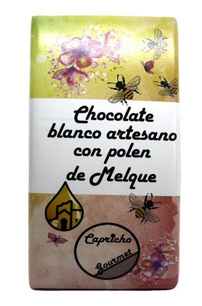 Chocolate blanco Artesano con crocanti de polen