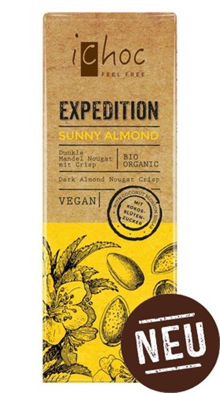 Chocolate con almendras vegan, 50 gr