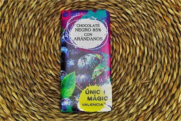 Chocolate con arándanos