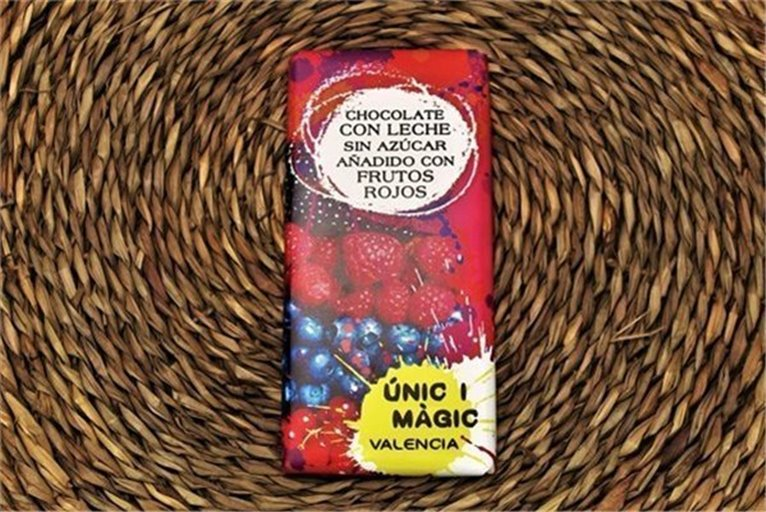 Chocolate con frutos rojos