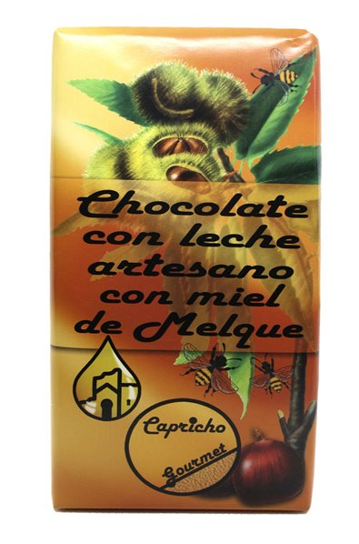 Chocolate con leche Artesano y Miel de Melque