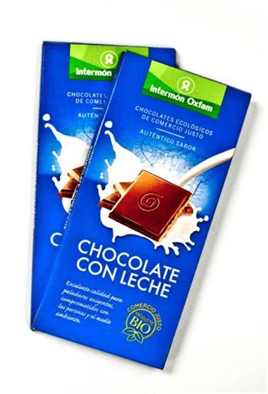 Chocolate con leche bio, 100 gr