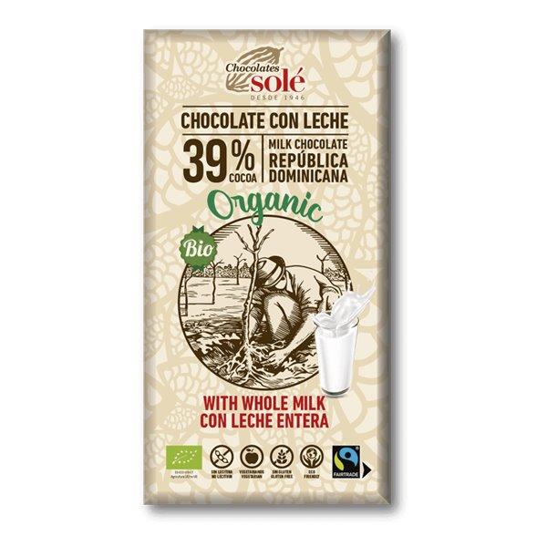 Chocolate con leche BIO (39% cacao)