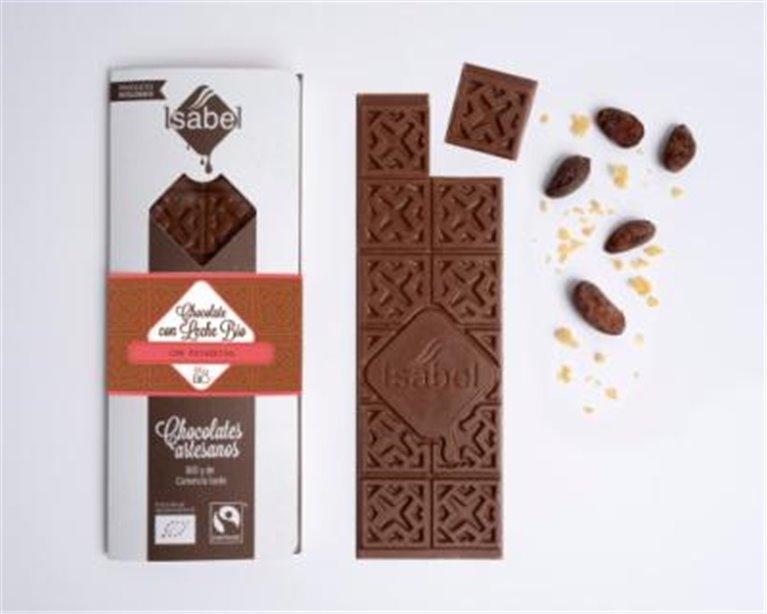 Chocolate con leche con petacetas Isabel, 1 ud