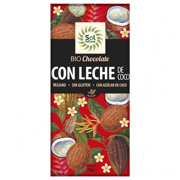 Chocolate con Leche de Coco Sin Gluten Bio 70g