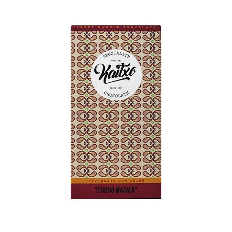 Chocolate con leche Kaitxo Etxeko Masala 70gr.