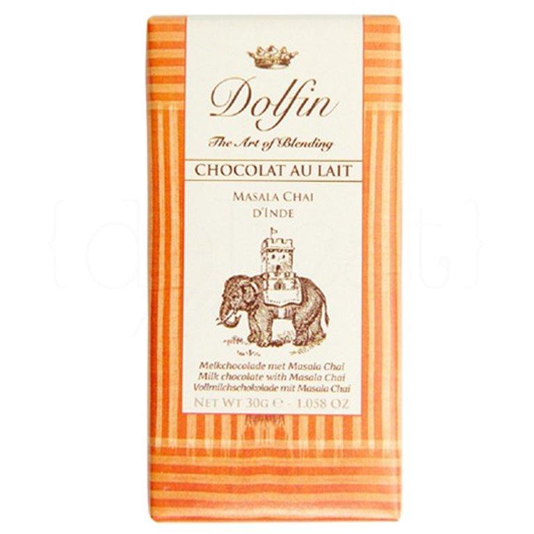 Chocolate con Leche Masala Chai de la India 30gr. Dolfin. 25un., 1 ud