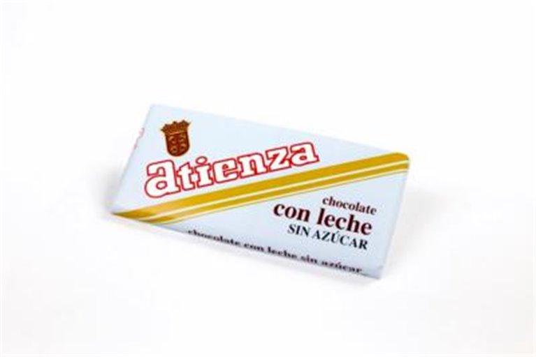 Chocolate con leche sin azúcar Atienza, 1 ud