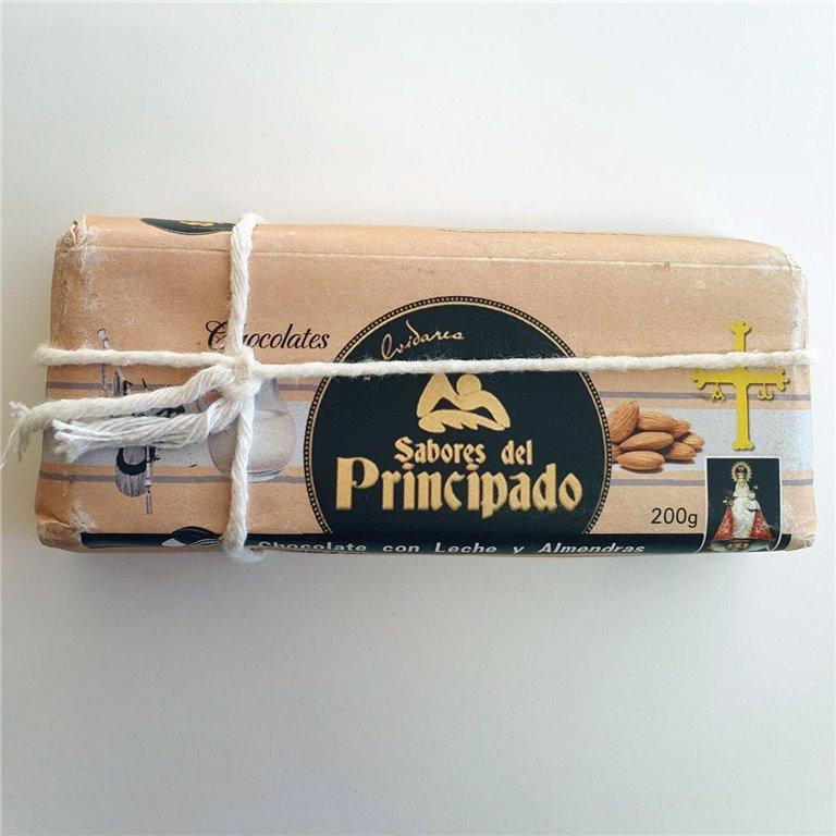 Chocolate con Leche y Almendras 200 g.