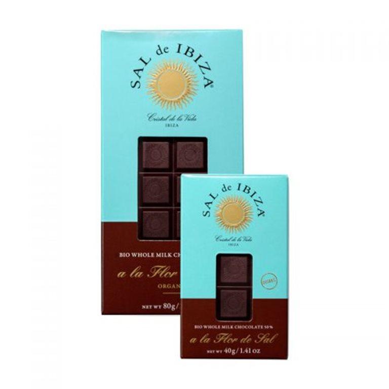 Chocolate con leche y Flor de Sal