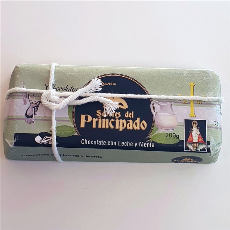 Chocolate con Leche y Menta 200 g.
