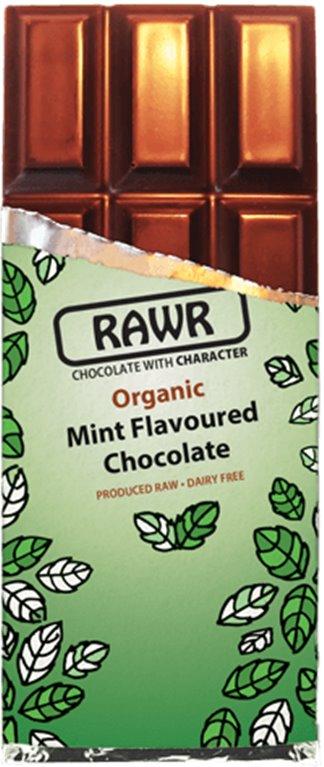Chocolate Crudivegano a la menta, 80 gr