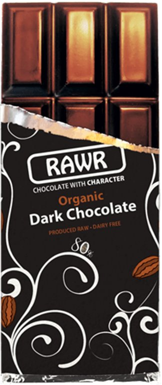 Chocolate Crudivegano puro 80%, 80 gr