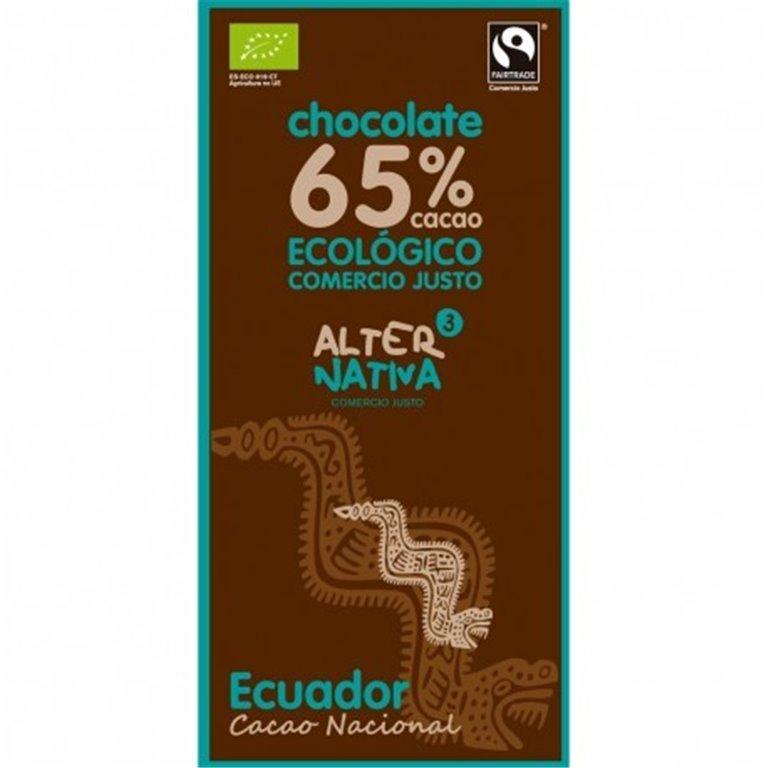 Chocolate Ecuador 65% Cacao, 1 ud