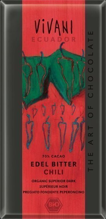 Chocolate Ecuador con chili, 100 gr