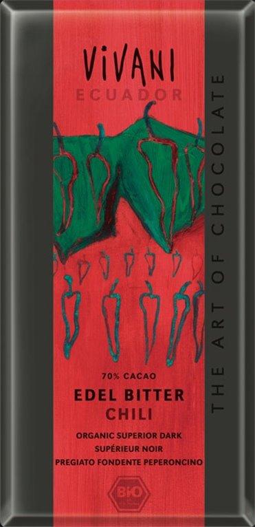 Chocolate Ecuador con chili, 100 gr