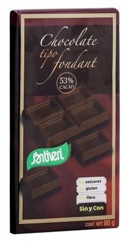 Chocolate Fondant 53% Cacao (Sin Azúcar) 80g