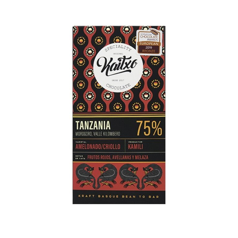 Chocolate Kaitxo 75% Tanzania Bean To bar 70gr.