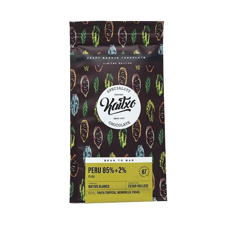 Chocolate Kaitxo 85%+2% Peru Bean To bar Edicion Limitada 70gr.