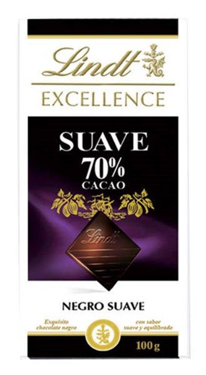 Chocolate Lindt 70% cacao SUAVE (100 gr, suave y equilibrado)