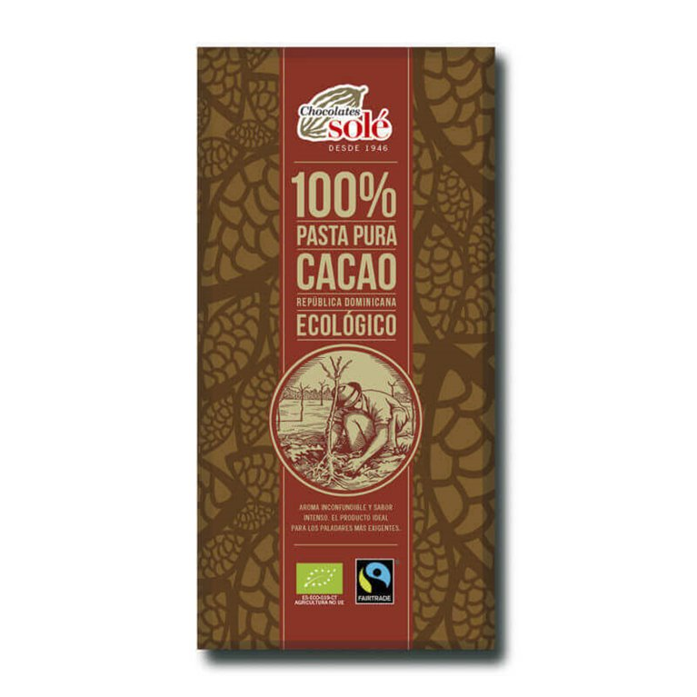 Chocolate negro 100% cacao BIO