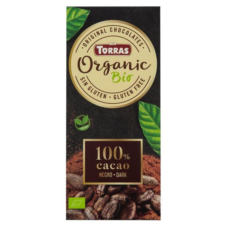 Chocolate Negro 100% Cacao Criollo Forastero Bio 100g