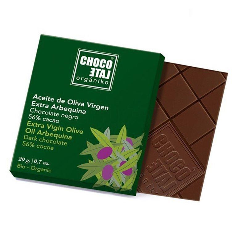 Chocolate Negro 56% Cacao con Lima BIO 20g. Chocolate Orgániko. 18un., 1 ud