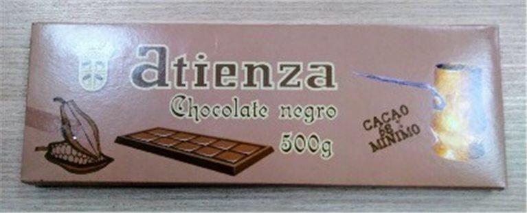 Chocolate Negro 68% 500grs Atienza